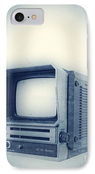 Old School Television Phone Case by Edward Fielding