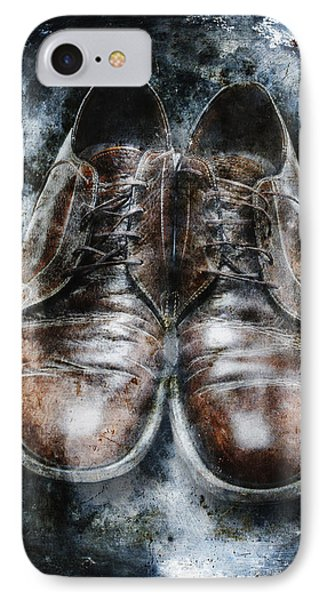 Old Shoes Frozen In Ice Phone Case by Skip Nall