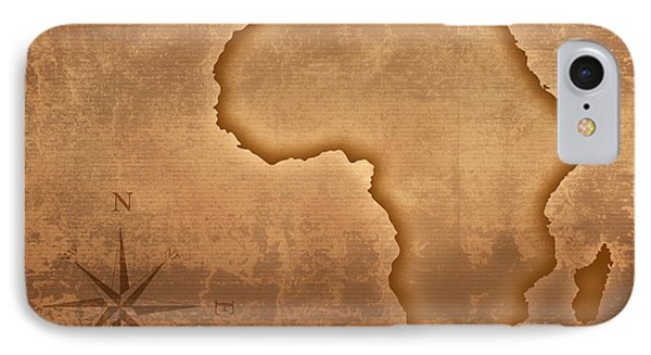 Old Style Africa Map IPhone Case by Johan Swanepoel