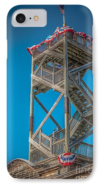 Old Wooden Watchtower Key West - Hdr Style IPhone Case by Ian Monk