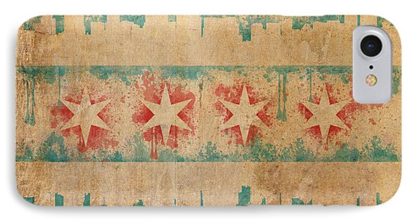 Old World Chicago Flag IPhone Case by Mike Maher