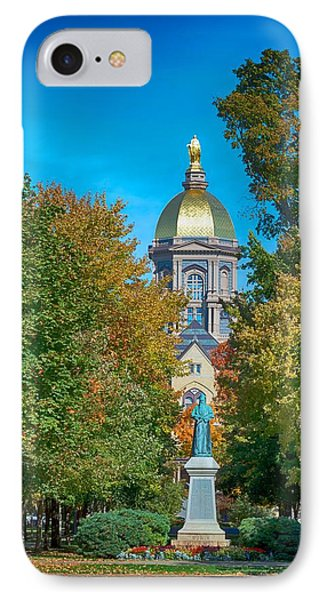 On The Campus Of The University Of Notre Dame IPhone Case by Mountain Dreams