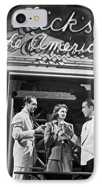 On The Casablanca Set IPhone Case by Underwood Archives
