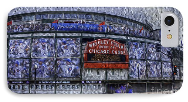 One Hundred Years At Wrigley IPhone Case by David Bearden