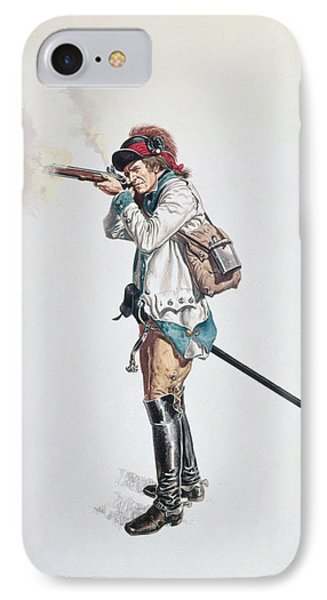 One Of Washingtons 3rd Continental Dragoons Wc On Paper IPhone Case by American School