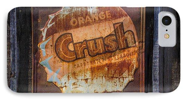 Orange Crush Sign IPhone Case by Garry Gay
