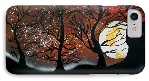 Orange Harvest Moon IPhone Case by Chris DeVries
