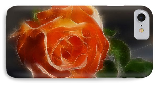 Orange Rose 6220-fractal Phone Case by Gary Gingrich Galleries