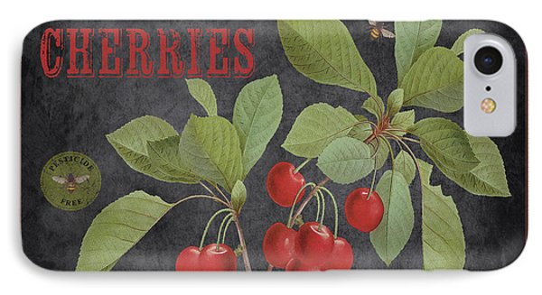 Orchard Fresh Cherries-jp2639 IPhone Case by Jean Plout