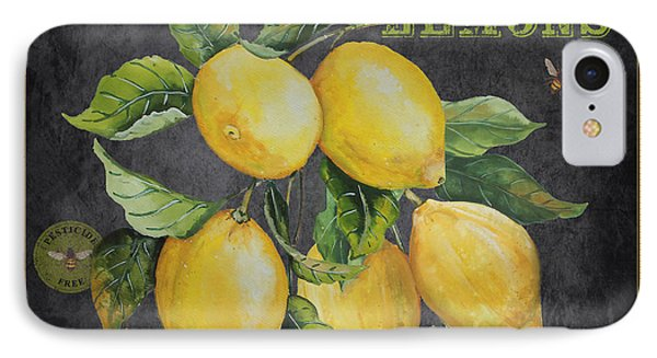 Orchard Fresh Lemons-jp2679 IPhone Case by Jean Plout