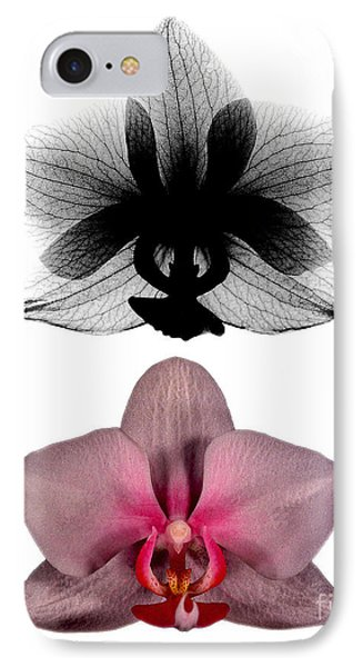 Orchid And Its X-ray Phone Case by Bert Myers
