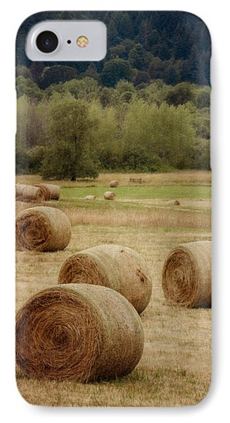 Oregon Hay Bales IPhone Case by Carol Leigh
