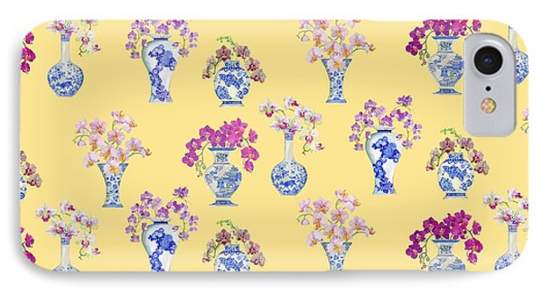 Oriental Vases With Orchids IPhone 7 Case by Kimberly McSparran
