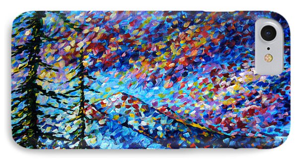 Original Abstract Impressionist Landscape Contemporary Art By Madart Mountain Glory IPhone Case by Megan Duncanson