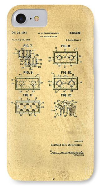 Original Patent For Lego Toy Building Brick Phone Case by Edward Fielding
