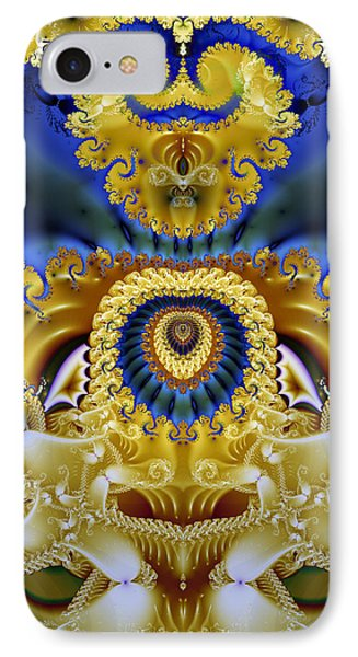 Ornamental Fountain - A Fractal Design IPhone Case by Gina Lee Manley