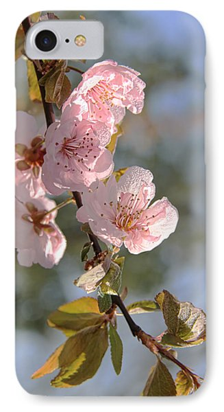 Ornamental Plum Tree Pink Flower Blossoms Phone Case by Jennie Marie Schell