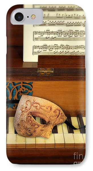 Ornate Mask On Piano Keys Phone Case by Jill Battaglia