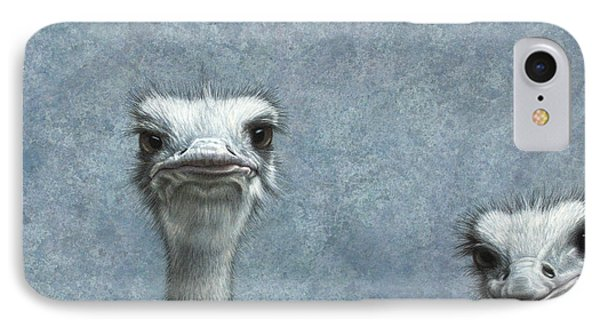 Ostriches IPhone Case by James W Johnson