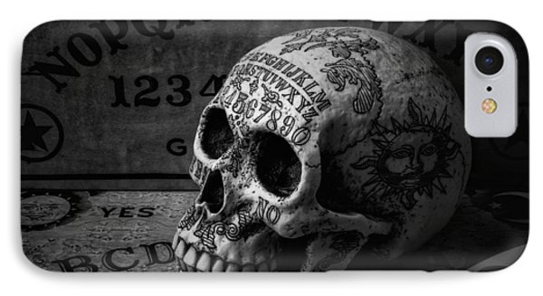 Ouija Boards And Skull IPhone Case by Garry Gay