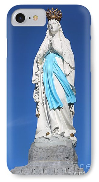 Our Lady Of Lourdes IPhone Case by Carol Groenen