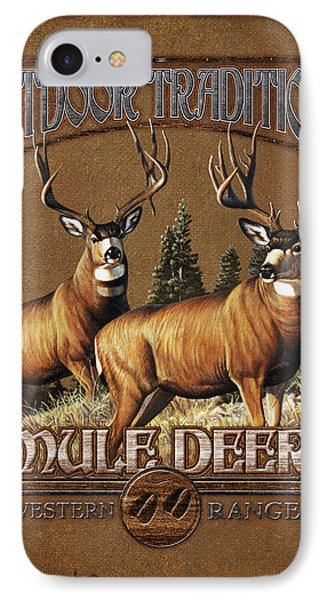 Outdoor Traditions Mule Deer Phone Case by JQ Licensing