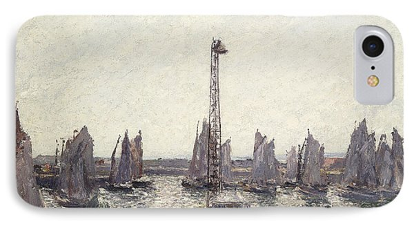 Outer Harbor And Cranes Le Havre IPhone Case by Camille Pissarro