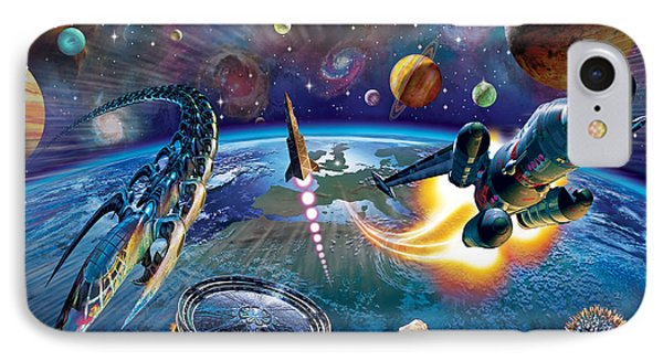 Outer Space IPhone Case by Adrian Chesterman