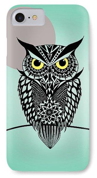 Owl 5 IPhone 7 Case by Mark Ashkenazi