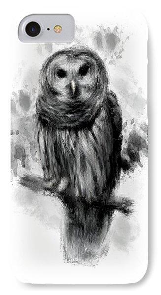 Owl's Portrait IPhone Case by Lourry Legarde