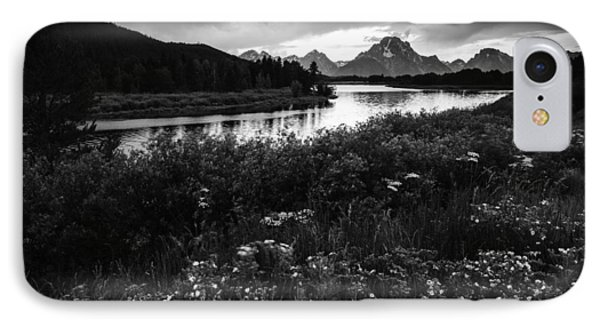 Oxbow Bend In Black And White IPhone Case by Vishwanath Bhat
