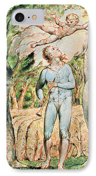 P.124-1950.ptl Frontispiece To Songs IPhone Case by William Blake