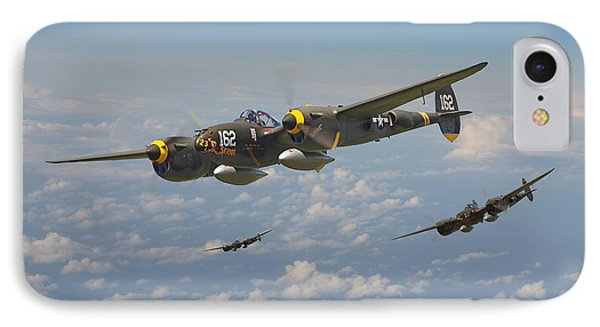 P38 Lightning - Pacific Patrol Phone Case by Pat Speirs