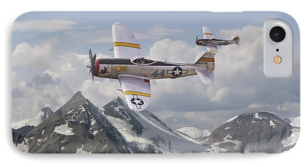 P47 Thunderbolt - 57th Fg IPhone Case by Pat Speirs
