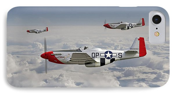 P51 - 334th Fighting Eagles IPhone Case by Pat Speirs