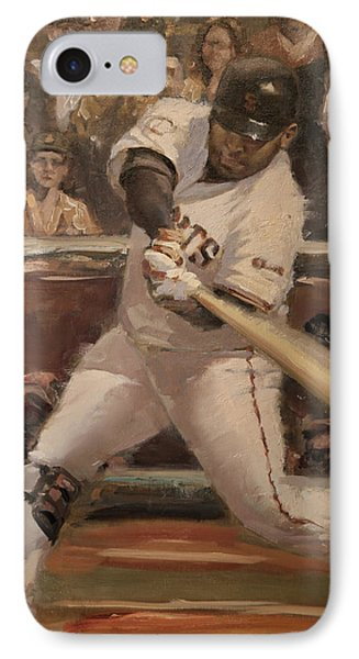 Pablo Sandoval Home Run IPhone Case by Darren Kerr