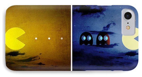 Pac-scape Orizontal Diptych IPhone Case by Filippo B