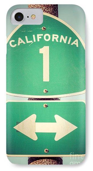 Pacific Coast Highway Sign California State Route 1  IPhone Case by Paul Velgos