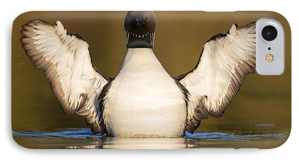 Pacific Loon Wing Flap IPhone 7 Case by Tim Grams