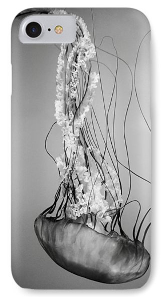 Pacific Sea Nettle - Black And White IPhone Case by Marianna Mills