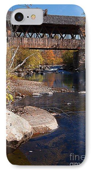Packard Hill Bridge Lebanon New Hampshire IPhone Case by Edward Fielding