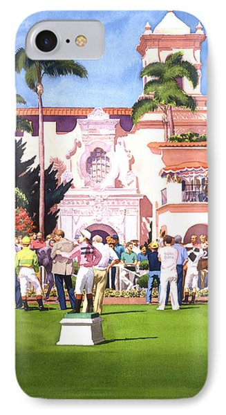 Paddock At Del Mar IPhone Case by Mary Helmreich