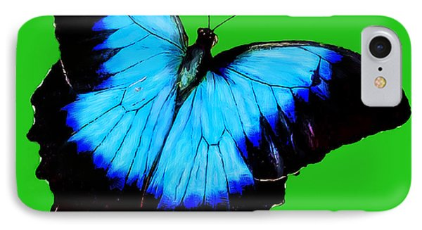 Painted Butterfly Phone Case by Bob and Nadine Johnston