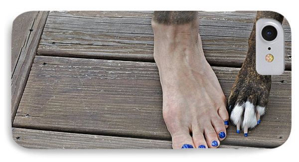 Painted Toenails And Dog Claws Phone Case by Harold Bonacquist