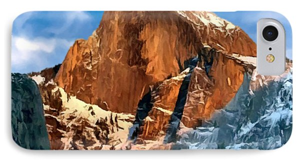 Painting Half Dome Yosemite N P Phone Case by Bob and Nadine Johnston