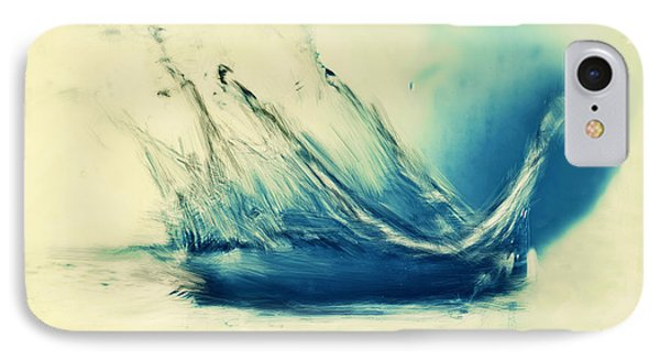 Painting Of Fresh Water Splash Phone Case by Michal Bednarek