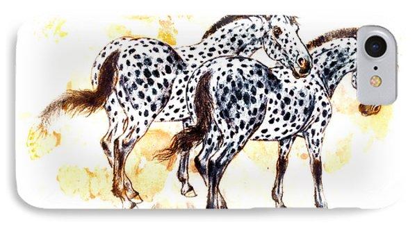 Pair Of Appaloosa Horses With Leopard Complex Phone Case by Kurt Tessmann