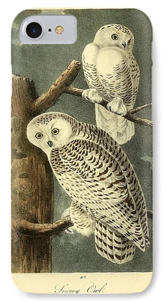 Pair Of Snowy Owls IPhone Case by Philip Ralley