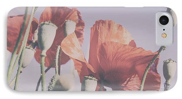 Pale Poppy Day IPhone Case by Georgia Fowler