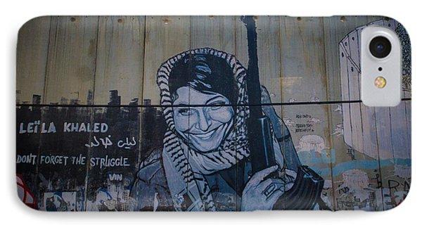 Palestinian Graffiti Phone Case by David Morefield